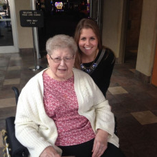 Good times with grandma on our first trip to the casino together! We both won and had a great time. Miss you and love you forever grandma!! - Natalie Aldrich