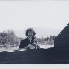 Bope constructing Garfield Ridge shelter in 1971 - Hawk Metheny