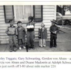 Birthday party in 1950 with Stanley Teggatz, Gary Schwarting, Marcia Baack, and Duane Madoerin - Gordon L. von  AHSEN