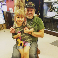 My Dad and my daughter Zoë at the Veterans Museum in May 2019 - Victoria Levin