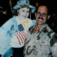 My Dad and I when he returned from Operation Desert Storm - Victoria Levin