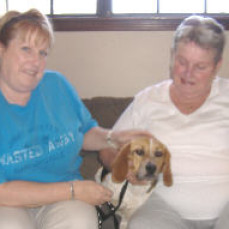 Always loved her beagles - now reunited with sunshine and herb - Linda Forrest