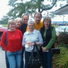 Darlene and her children celebrating her 80th birthday. - Sheryl McCurdy