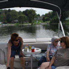 Three generations on the water. - Van