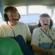 A plane ride with her baby brother for her 80th birthday ! - Kimberly Noe
