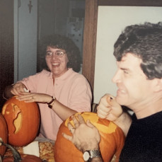 Carving Pumpkins - Julie Germann