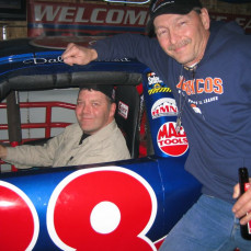 A night out, taking a video spin in Dale Jarrett's car. - Teddy