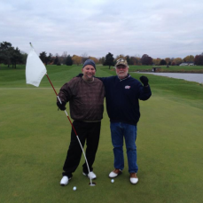 David & Tom on the links one chilly morning - Tom Earl