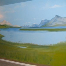 A mural I painted about 12 years ago. - Darcie Benton Sly