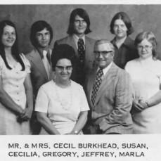 Cecil Burkhead family - Trinity Lutheran Directory 1974 - Max & Lucille Latimer