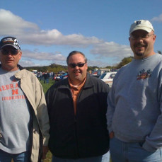 Bill, Pat Wooster, and I at the 'Cruise to the Woods' car show at the fair grounds, Oct 5th, 2009 - Bruce Anderson