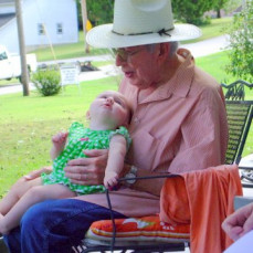 Uncle Gerald with his great niece Maddie  - Penny Choate