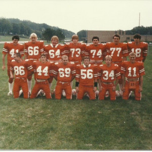 Senior football pic. Mark was the ultimate teammate, he'd play any position to help the team.  - John Vehrenkamp