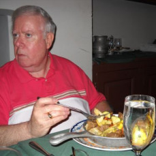 We took Uncle Bob out to dinner for his Birthday at The City Tavern in Philadelphia. - Cindy Gill
