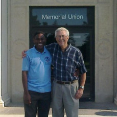Donald Payer and Babasola Olugasa in front of St. John's Episcopal Church, July, 2013 - Babasola Olugasa