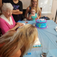I will forever cherish the memories I have of aunt wanda and will always share with Skylar how much she ment to her great great aunt! - Sammie and Skylar