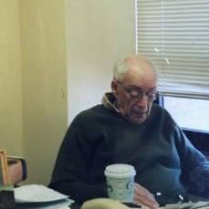 Arthur in his office at SUNY New Paltz. - Susan Livingston