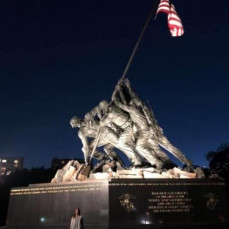 This was the last photo I sent to Dad. I was in D.C. for work, and knowing how proud he was to be a Marine, I made sure to see the monument up close and to take a photo for him ❤️ - Tessie