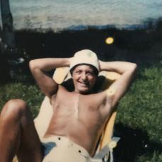 Carl Up north taking in the sun in 1982.  - Jill Patalon