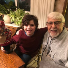 David, Judy, Ella and Brennan Hart visiting Uncle Carl at Christmas time in 2018.  - Jill Patalon