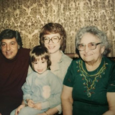 Carl, Judy Sullivan, Judy Hart and Auntie Rose in 1979. Carl sure adored his Auntie Rose.  (His dad's sister) - Jill Patalon