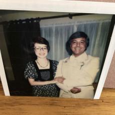 Carl and friend Judy Sullivan going to a wedding in 1976.  - Jill Patalon