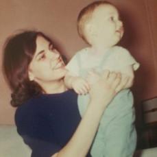 Aunt Peggy holding me - Paul Clarahan