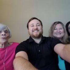 Betsy LaRue Buettner, sister, Shea Buettner,nephew and Sarah Buettner with Martha Bruner - Betsy LaRue Buettner