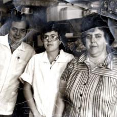 Georgia with parent at Ella's - Robert Clifford
