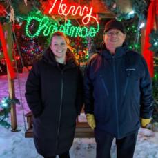 Craig and Jane, during Craig's Christmas visit 2019 - J. McBeath