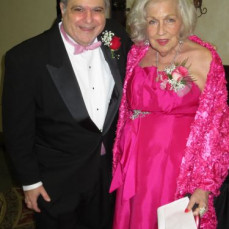 My favorite picture of Chip Rosenson and Queen Jeanine Hayes at the Pink Roses fundraiser--which Chip entirely orchestrated so that he could honor Jeanine.    - Ruth Josenhans
