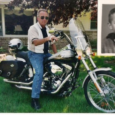 Lance as a kid when he and mom (Judith Louise Sortedahl Musfeldt) were adopted at the age of 7. Also Lance on one of his motorcycles.  - Sheryl Musfeldt