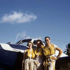 Ruth, Fred & Sherman in the Caribbean - Sherman Wolf family