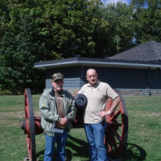 """Dutch with fellow FOOOPM Doc Dave.  Sept. 2012 at the Saratoga National Park Battlefield.  Semper Fi! - Dave """"Doc"""" DeVries"""