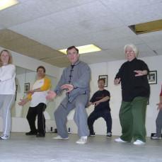 Practicing Tai Chi in 2004. - Ken Gullette