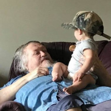 Opa always loved his grandchildren. This is a picture of Opa Ary and his granddaughter Ella (Jason's daughter)  - Amanda Wengerd