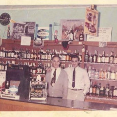 Ray and his father at in the store at Christmas   - George N Deeb