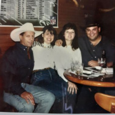 Paul and I parted ways many years ago but he was in my heart always.  I attached this photo from when we visited my brother in Texas and he kept getting asked for his autograph as people thought he was George Strait.  May he rest in peace. May his friends be comforted by knowing he was a loyal friend.  - G L Baker