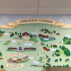 UD Township Mural - Painted by C. Kocher and F. FLothmeier - Carol Kocher