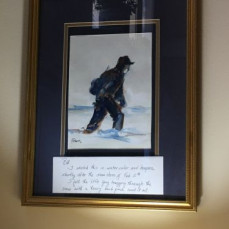 This was a gift from Fred.  We have it hangIng in our living room. - Bill Del Collo