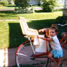 When she was 3, she was certain she could ride the big bike!  That was always her thing - she knew she could do anything she set her mind to. - David Stewart