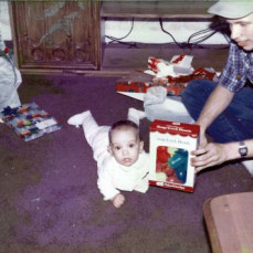 Jaymi's first Christmas, back in 1984 - Dave Stewart