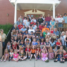 Brandon at VBS in 2009. He is right in the middle on the steps. - Carolyn Ruhde