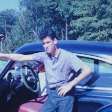 Reinhard standing by my 1950 Chevrolet, sometime around 1961 or 1962. Location Austin residence, Florence Twp., NJ - Donald Austin