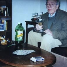 Arthur ready for a card game. - Susan