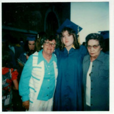 high school graduation with grandmas Jane & Bernice - Robert Clifford