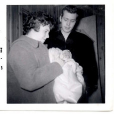 2 months old with Bonnie & Gordy - Robert Clifford