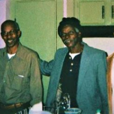 A happy moment on Thanksgiving with his sister Blanche Hightower, brother Eddie Bush and son Dion!  - Candace Watson Mack