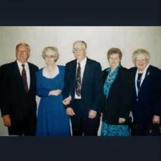 Children of Lloyd & Flossie Wagner - Robert, Verna Morgan, Wesley, Ida Krusell & Francis Richards, 1998 - Randall Morgan