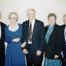 Children of Lloyd & Flossie Wagner: Robert, Verna Morgan, Wesley, Ida Krusell & Francis Richards, 1998 - Randall Morgan